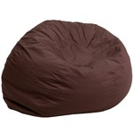 Brown Fabric kids bean bag