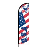 USA Flex Banner Flag - 11ft