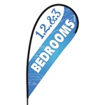 1 2 & 3 Bedroom Flex Blade Flag - 09' Single Sided
