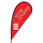 Now Leasing Flex Blade Flag - 09' Single Sided