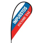 Impuestos Income Tax Flex Blade Flag - 09' Single Sided