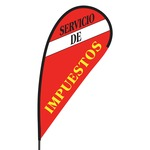 Servicio de Impuestos Flex Blade Flag - 09' Single Sided