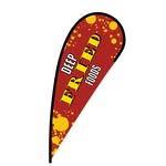 Deep Fried Foods Flex Blade Flag - 12'