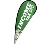 Income Tax Service Flex Blade Flag - 12'