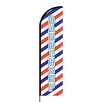 Barbershop Flex Banner Flag - 16ft (Single Sided)