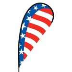 American Flex Blade Flag - 09' Single Sided