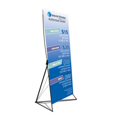 X-Banner Stand -Single Sided (32