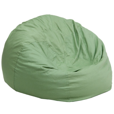 Green Fabric kids bean bag